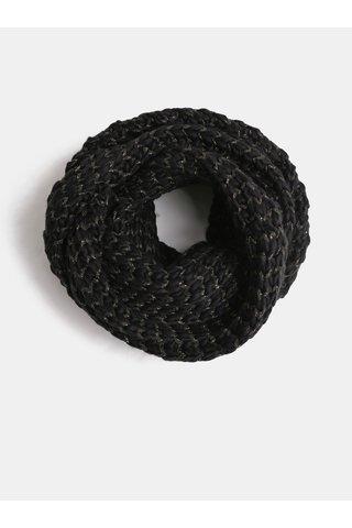 Fular negru cu model si fibre metalice ONLY Tibana