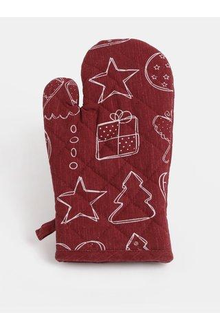 Vínová chňapka s vánočním motivem Dakls