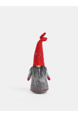 Elf rosu-gri din fleece Dakls