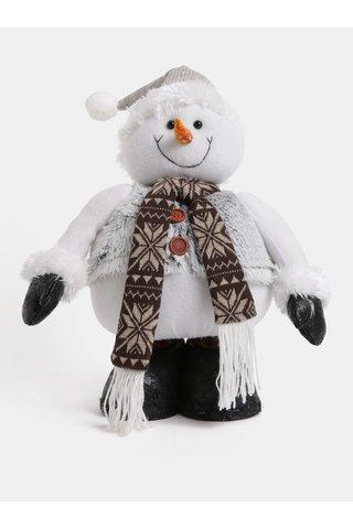 Bílý velký plyšový sněhulák Dakls