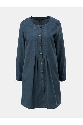 Rochie albastra din material reiat Tranquillo Pinga