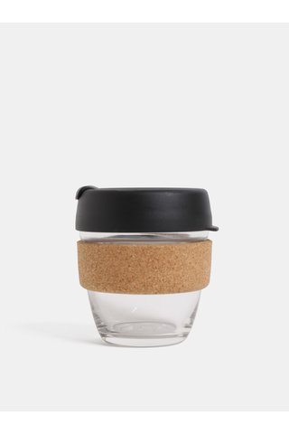 Cana neagra de calatorie din sticla KeepCup Brew small 227 ml