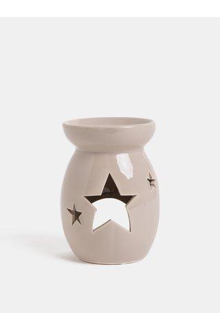 Lampa aromatica maro din ceramica Dakls