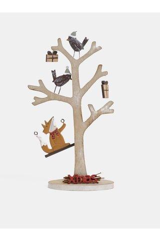 Decoratie din lemn maro in forma copac Dakls