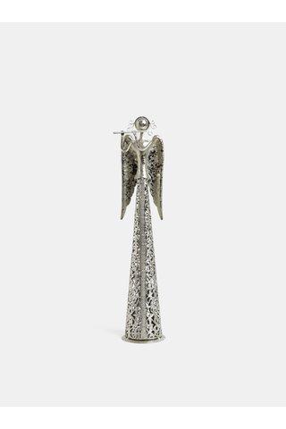 Kovový malý anděl ve stříbrné barvě Dakls