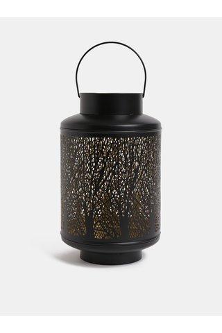 Lanterna neagra mare din metal Dakls