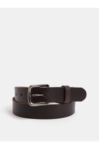Curea maro inchis din piele cu catarama interschimbabila in set cadou Jack & Jones Belt Gift Box