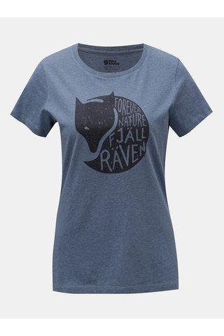 Modré dámské žíhané tričko s potiskem Fjällräven Forever