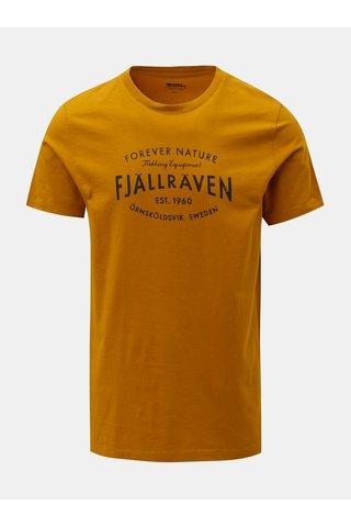 Tricou barbatesc galben inchis cu imprimeu Fjällräven Est. 1960