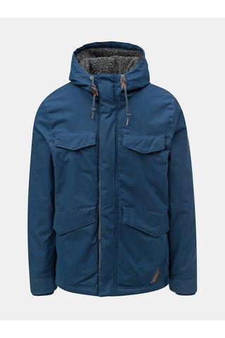 Jacheta barbateasca albastru inchis de iarna cu gluga Ragwear