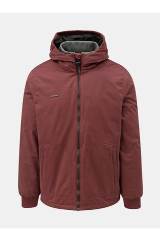 Jacheta barbateasca bordo de iarna cu gluga Ragwear