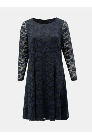 Rochie albastru inchis cu maneci lungi Zizzi