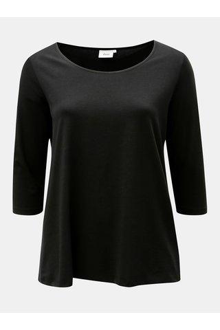 Tricou negru cu maneci lungi Zizzi