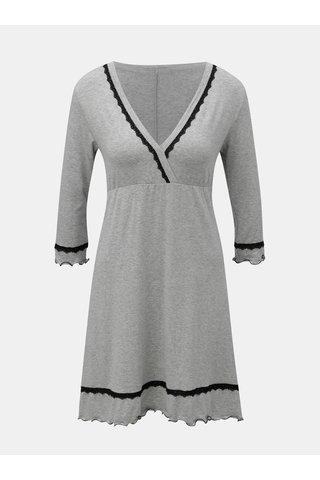 Světle šedá žíhaná košilka s dlouhým rukávem Eldar Lea