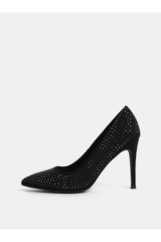 Pantofi negri cu toc inalt si pietre Dorothy Perkins