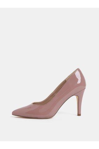Pantofi roz prafuit lucios cu toc inalt Dorothy Perkins