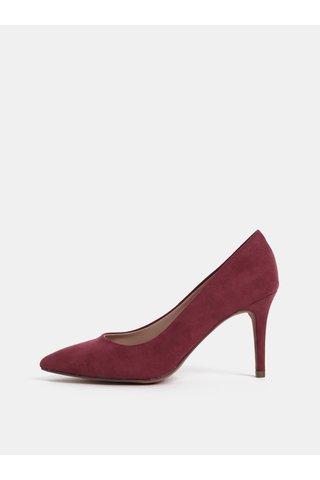 Pantofi bordo cu aspect de piele intoarsa Dorothy Perkins
