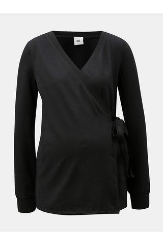 Tricou negru cu croi suprapus pentru femei insarcinate/alaptat Mama.licious Kaja