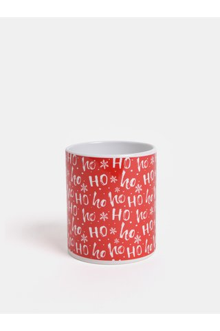 Bílo-červený hrnek s vánočním motivem Butter Kings