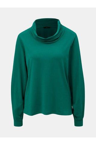 Bluza verde inchis cu guler inalt VERO MODA Geri