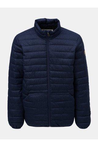 Jacheta barbateasca albastru inchis de iarna matlasata impermeabila Quiksilver Scaly