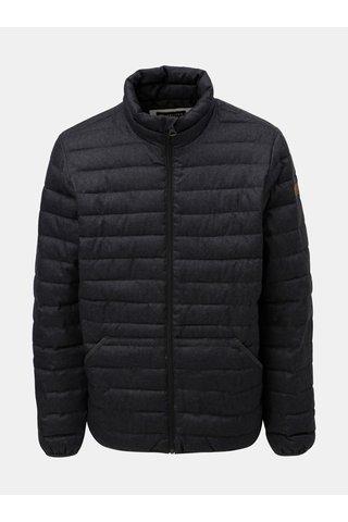 Jacheta barbateasca gri inchis de iarna matlasata impermeabila Quiksilver Scaly