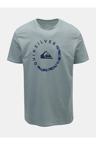 Tricou barbatesc albastru deschis regular fit cu imprimeu Quiksilver Slab Sessions