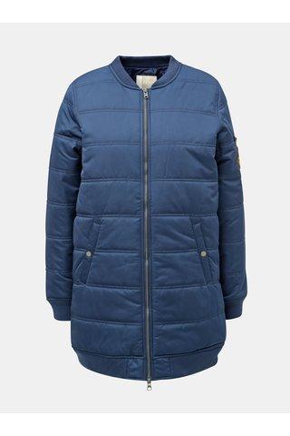 Jacheta bomber albastra de dama matlasata lunga impermeabila de iarna Roxy