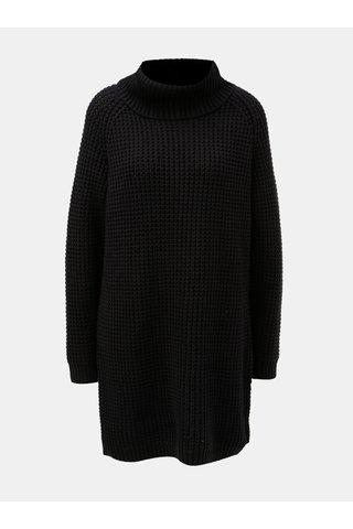 Černé svetrové šaty s rolákem Roxy