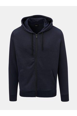 Hanorac albastru inchis cu fermoar Burton Menswear London