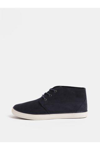 Pantofi sport barbatesti albastru inchis cu aspect de piele intoarsa Burton Menswear London Ashlee