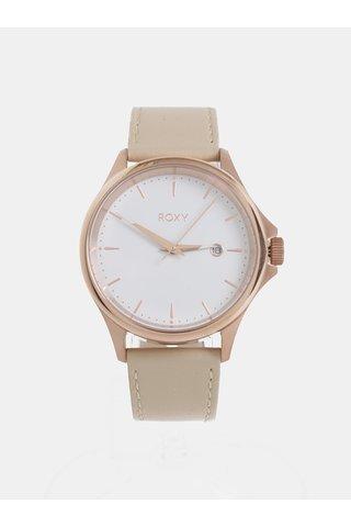 Dámské hodinky s béžovým koženým páskem Roxy Messenger