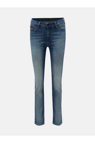 Modré dámské slim džíny s vyšisovaným efektem Lee Arizona
