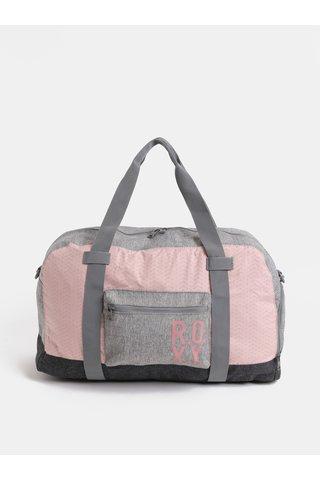 Růžovo-šedá dámská sporotní taška Roxy Winter Come 32 l