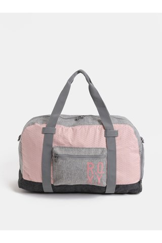 Geanta sport roz-gri de dama Roxy Winter Come 32 l