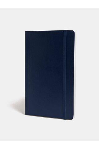 Caiet albastru inchis liniat cu legatura moale Moleskine A5