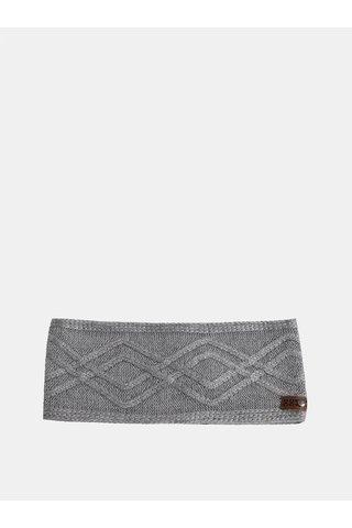 Bentita gri deschis de dama de iarna cu amestec de lana Roxy Frozen Jaya