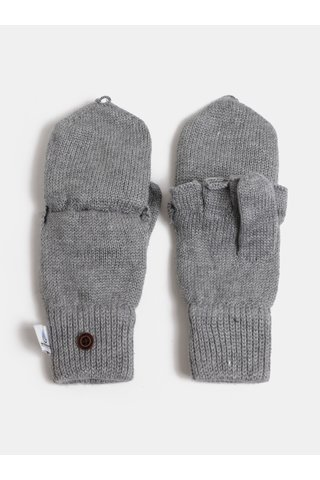 Světle šedé dámské rukavice s příměsí vlny Roxy Frozen Jaya