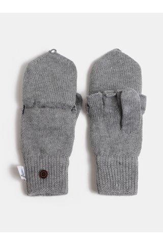 Manusi gri deschis de dama cu amestec de lana Roxy Frozen Jaya