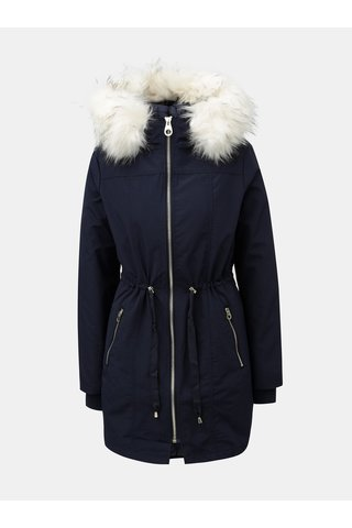 Geaca parka albastru inchis cu jacheta interioara detasabila 2 in 1 Miss Selfridge