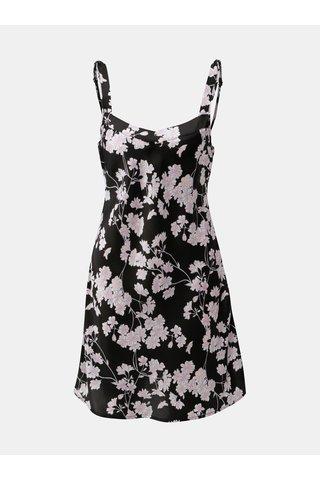 Camasa de noapte neagra florala M&Co Purple