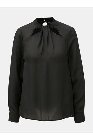 Černá halenka s průstřihy v dekoltu Dorothy Perkins Emily