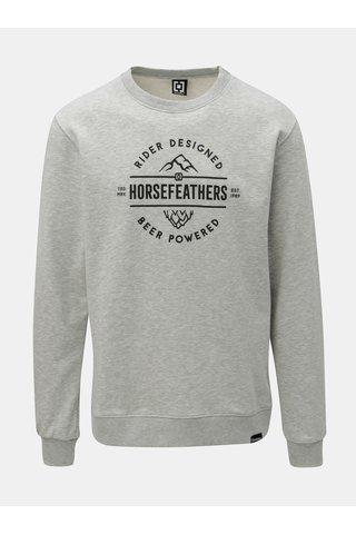 Bluza sport barbateasca gri melanj si imprimeu Horsefeathers Haller