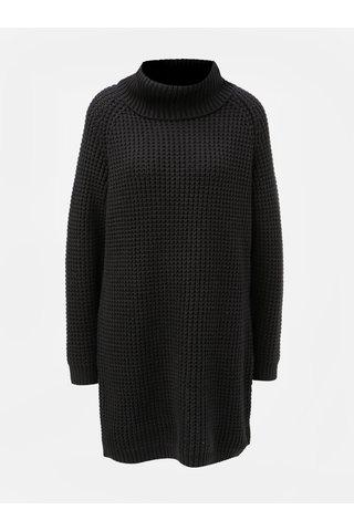 Rochie neagra tricotata cu guler inalt Roxy