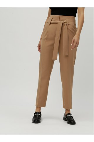 Pantaloni maro pana la glezne cu talie inalta Dorothy Perkins
