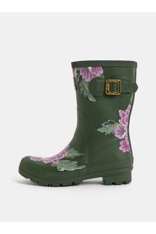 Cizme de ploaie kaki florala de dama Tom Joule Molly