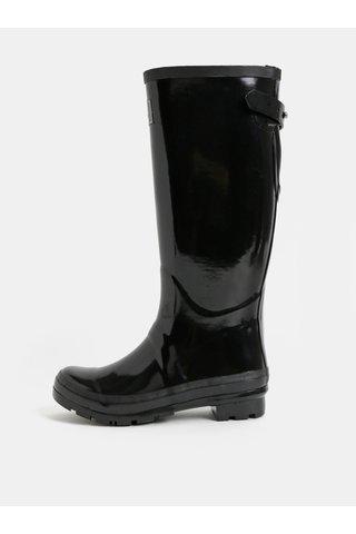Cizme de ploaie negre de dama cu catarama Tom Joule Glossy