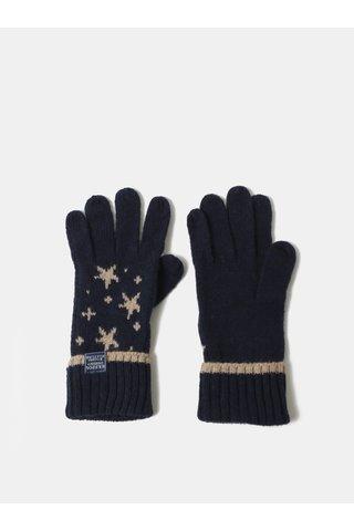 Tmavě modré dámské vzorované rukavice Tom Joule Intarsia