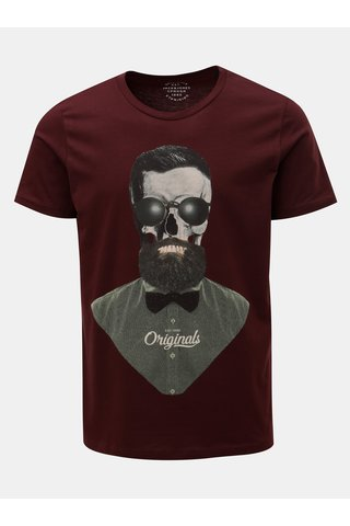 Tricou bordo cu imprimeu craniu Jack & Jones Art