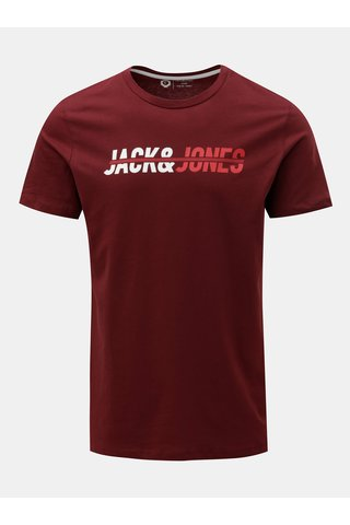 Tricou bordo cu inscriptie Jack & Jones Linn